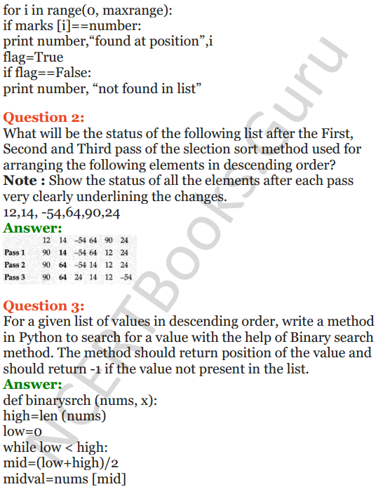 Important Questions for Class 12 Computer Science (Python) chapter - 3 – Lists Manipulation and Implementation 4
