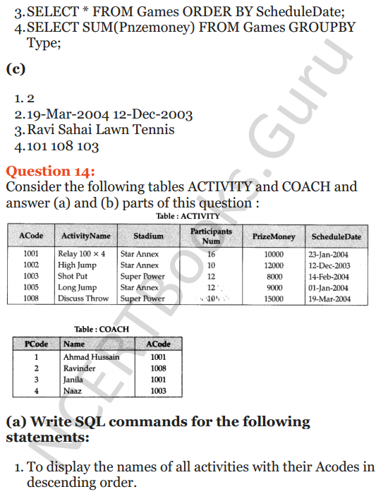 Important Questions for Class 12 Computer Science (Python) chapter - 7 – Structured Query Language 36