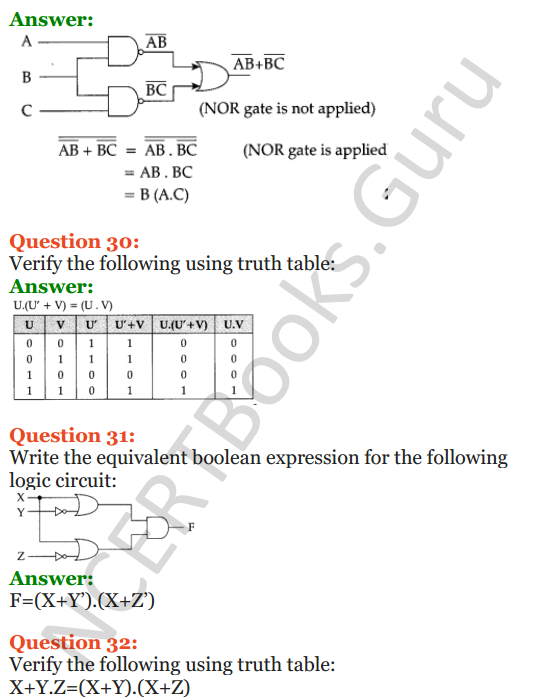 Important Questions for Class 12 Computer Science (Python) Chapter - 8 – Boolean Algebra 17
