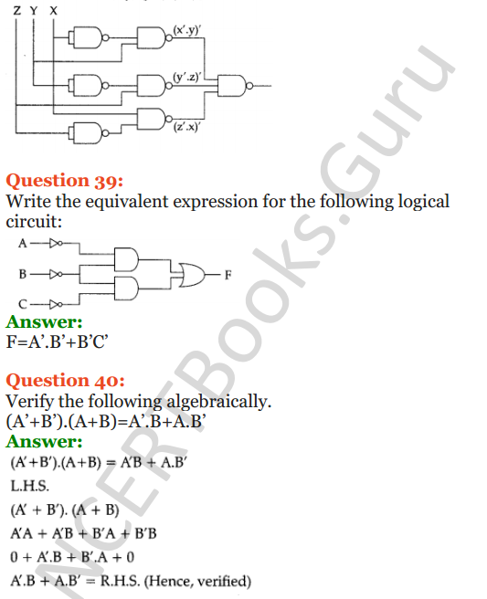 Important Questions for Class 12 Computer Science (Python) Chapter - 8 – Boolean Algebra 21