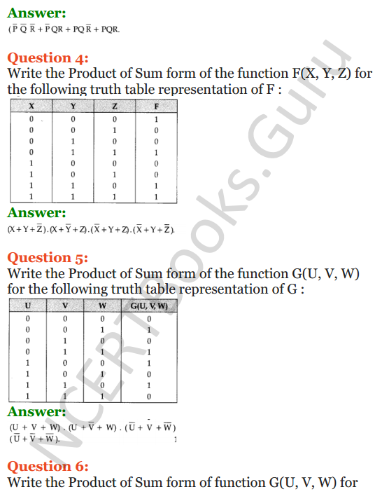 Important Questions for Class 12 Computer Science (Python) Chapter - 8 – Boolean Algebra 26