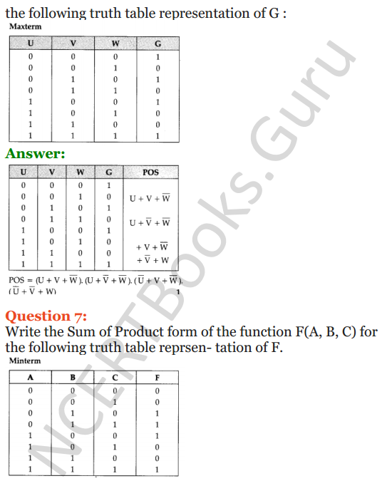 Important Questions for Class 12 Computer Science (Python) Chapter - 8 – Boolean Algebra 27
