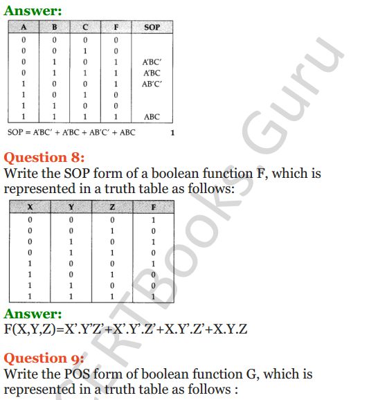 Important Questions for Class 12 Computer Science (Python) Chapter - 8 – Boolean Algebra 28