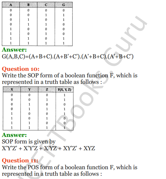 Important Questions for Class 12 Computer Science (Python) Chapter - 8 – Boolean Algebra 29