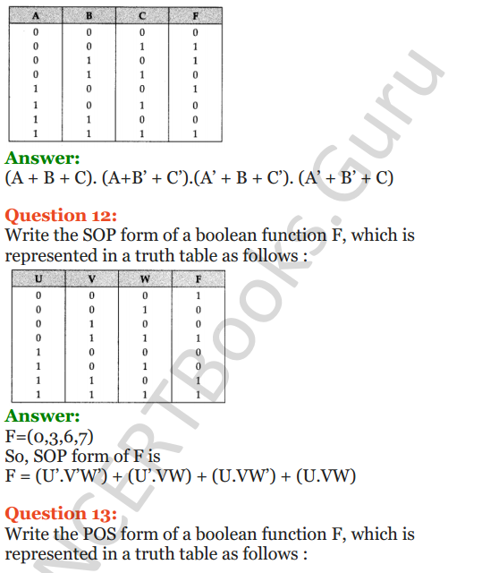 Important Questions for Class 12 Computer Science (Python) Chapter - 8 – Boolean Algebra 30