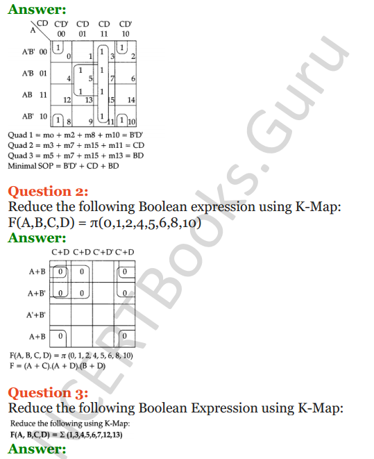 Important Questions for Class 12 Computer Science (Python) Chapter - 8 – Boolean Algebra 35