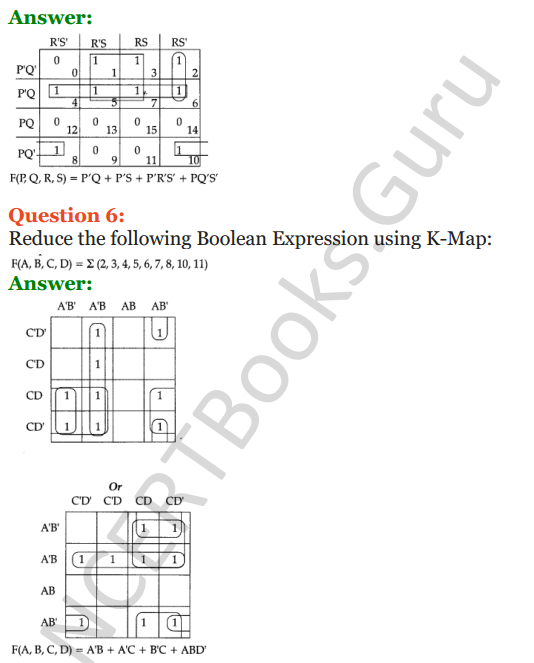 Important Questions for Class 12 Computer Science (Python) Chapter - 8 – Boolean Algebra 37