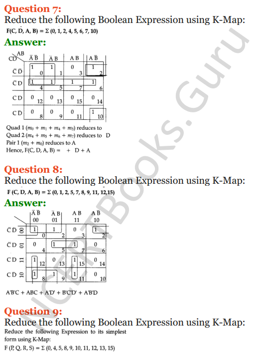 Important Questions for Class 12 Computer Science (Python) Chapter - 8 – Boolean Algebra 38