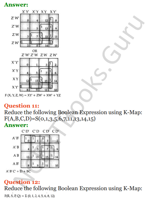 Important Questions for Class 12 Computer Science (Python) Chapter - 8 – Boolean Algebra 40