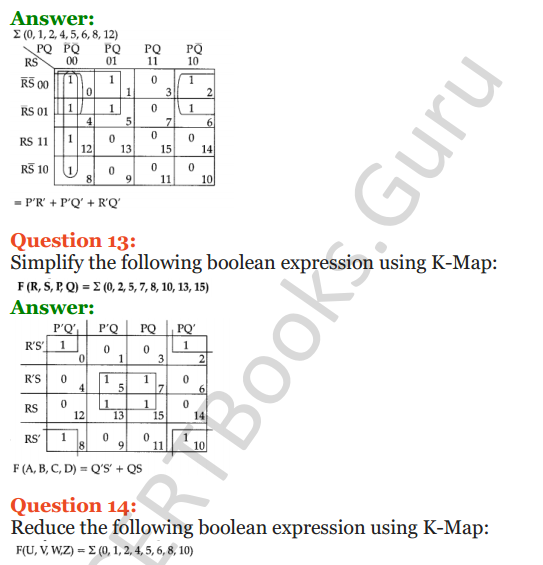Important Questions for Class 12 Computer Science (Python) Chapter - 8 – Boolean Algebra 41