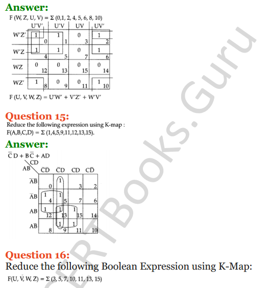 Important Questions for Class 12 Computer Science (Python) Chapter - 8 – Boolean Algebra 42
