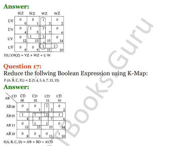 Important Questions for Class 12 Computer Science (Python) Chapter - 8 – Boolean Algebra 43