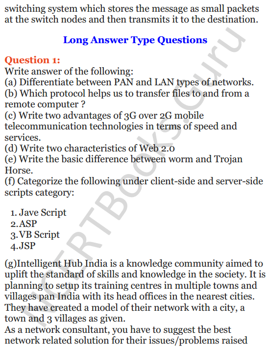 Important Questions for Class 12 Computer Science (Python) Chapter - 9 – Networking and Open Source Concepts 13