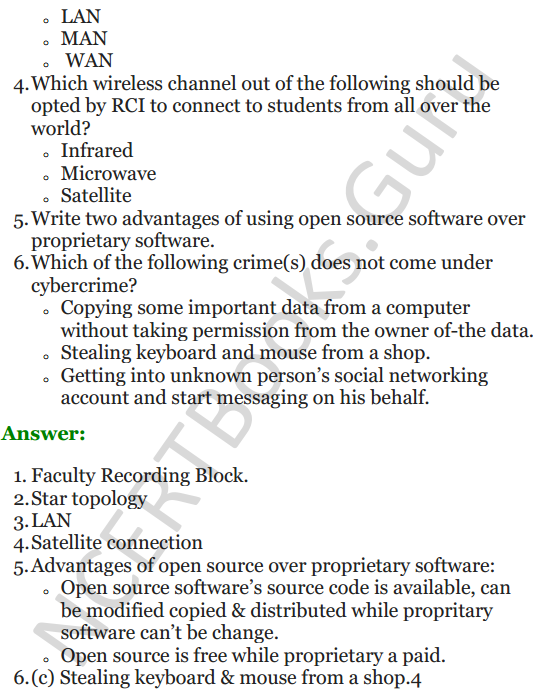 Important Questions for Class 12 Computer Science (Python) Chapter - 9 – Networking and Open Source Concepts 29