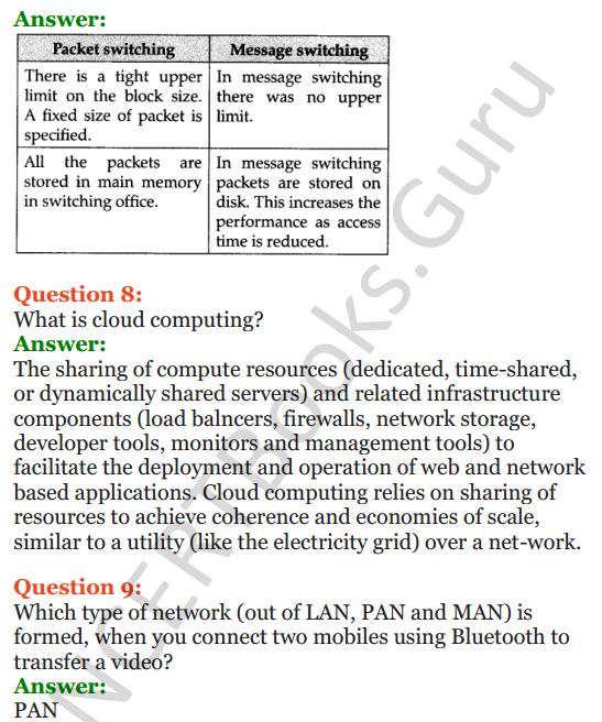 Important Questions for Class 12 Computer Science (Python) Chapter - 9 – Networking and Open Source Concepts 3