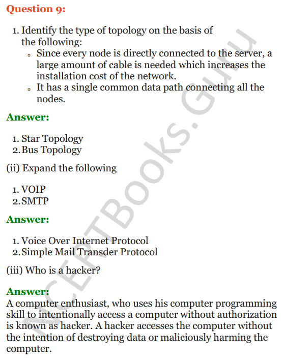 Important Questions for Class 12 Computer Science (Python) Chapter - 9 – Networking and Open Source Concepts 30