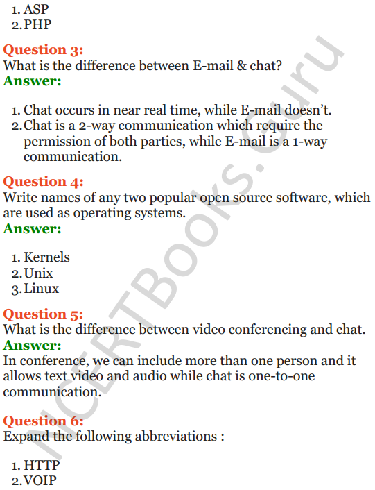 Important Questions for Class 12 Computer Science (Python) Chapter - 9 – Networking and Open Source Concepts 50