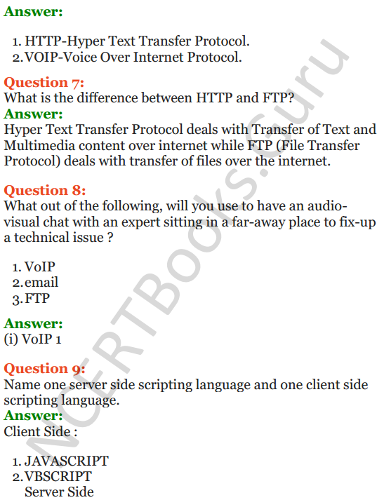 Important Questions for Class 12 Computer Science (Python) Chapter - 9 – Networking and Open Source Concepts 51