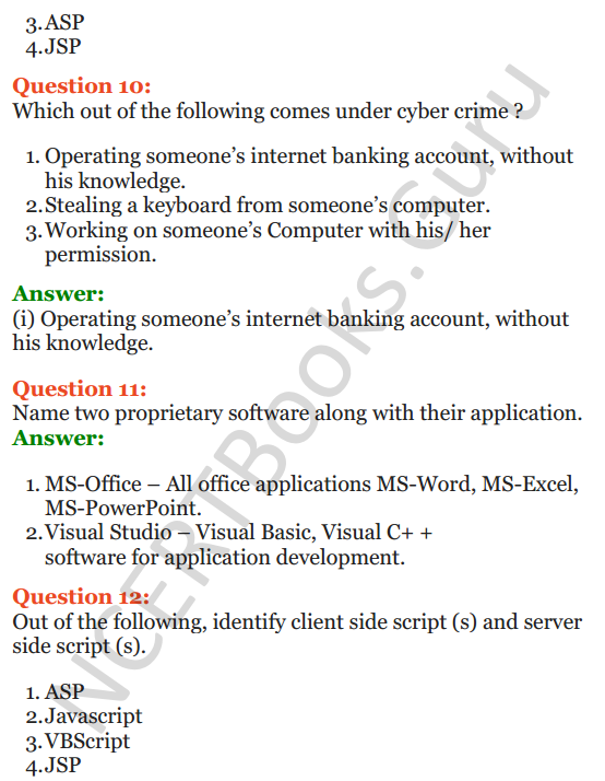 Important Questions for Class 12 Computer Science (Python) Chapter - 9 – Networking and Open Source Concepts 52