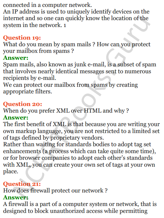 Important Questions for Class 12 Computer Science (Python) Chapter - 9 – Networking and Open Source Concepts 55