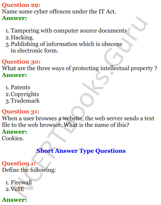 Important Questions for Class 12 Computer Science (Python) Chapter - 9 – Networking and Open Source Concepts 59