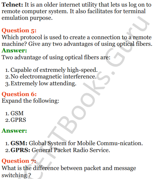 Important Questions for Class 12 Computer Science (Python) Chapter - 9 – Networking and Open Source Concepts 2