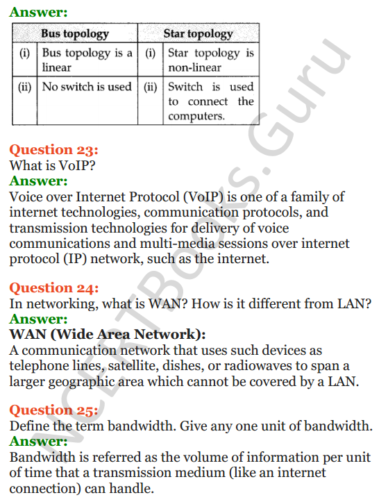 Important Questions for Class 12 Computer Science (Python) Chapter - 9 – Networking and Open Source Concepts 8