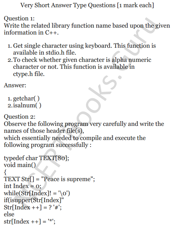NCERT Solutions for Class 12 Computer Science (C++) Chapter - 1 – C++ Revision Tour 1
