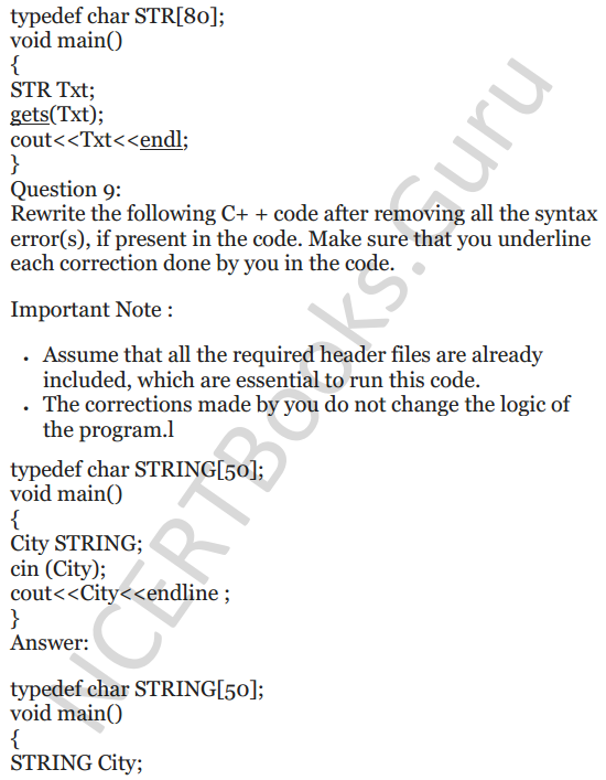 NCERT Solutions for Class 12 Computer Science (C++) Chapter - 1 – C++ Revision Tour 15