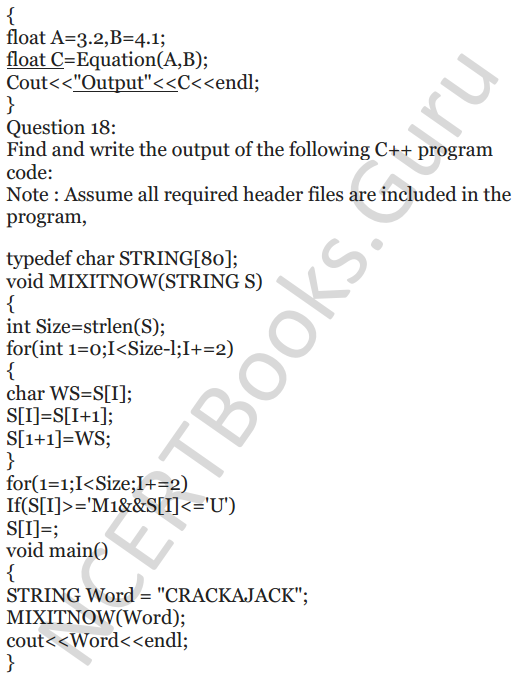 NCERT Solutions for Class 12 Computer Science (C++) Chapter - 1 – C++ Revision Tour 21