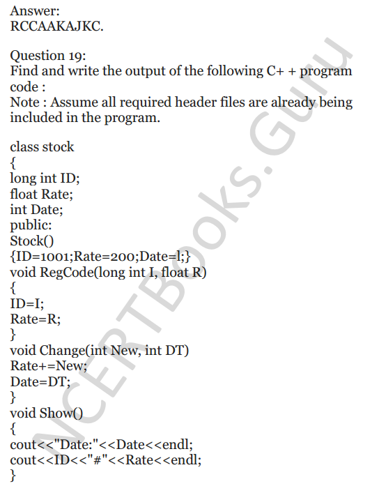 NCERT Solutions for Class 12 Computer Science (C++) Chapter - 1 – C++ Revision Tour 22