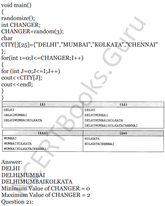 NCERT Solutions for Class 12 Computer Science (C++) Chapter - 1 – C++ Revision Tour 24