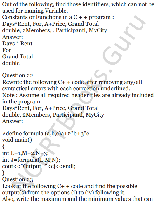 NCERT Solutions for Class 12 Computer Science (C++) Chapter - 1 – C++ Revision Tour 25