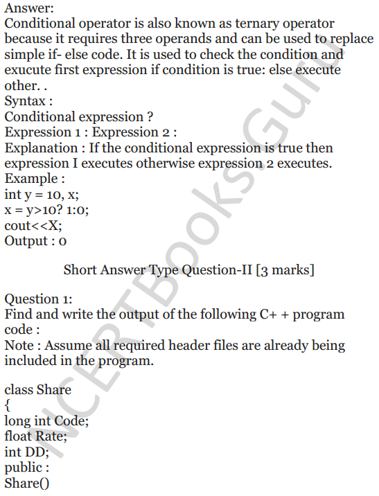 NCERT Solutions for Class 12 Computer Science (C++) Chapter - 1 – C++ Revision Tour 29