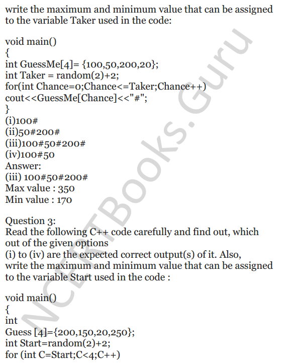 NCERT Solutions for Class 12 Computer Science (C++) Chapter - 1 – C++ Revision Tour 32