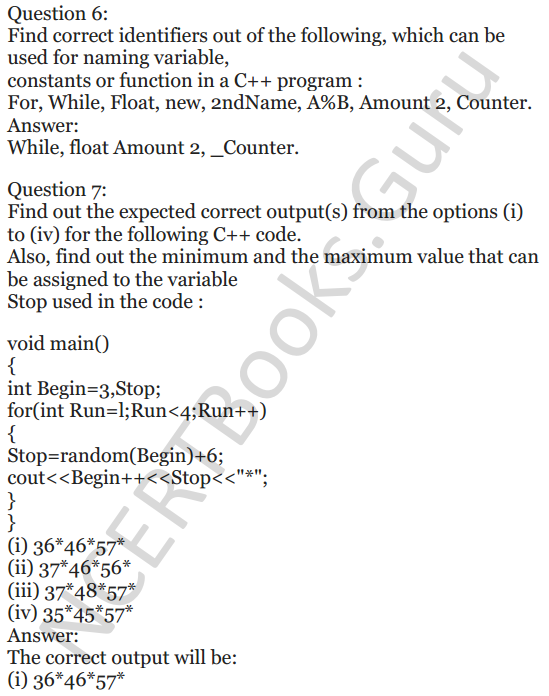 NCERT Solutions for Class 12 Computer Science (C++) Chapter - 1 – C++ Revision Tour 34