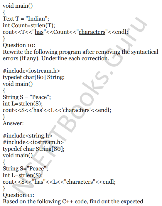 NCERT Solutions for Class 12 Computer Science (C++) Chapter - 1 – C++ Revision Tour 36