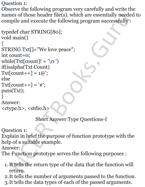 NCERT Solutions for Class 12 Computer Science (C++) Chapter - 1 – C++ Revision Tour 38