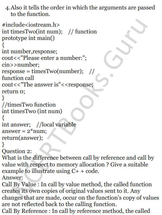 NCERT Solutions for Class 12 Computer Science (C++) Chapter - 1 – C++ Revision Tour 39