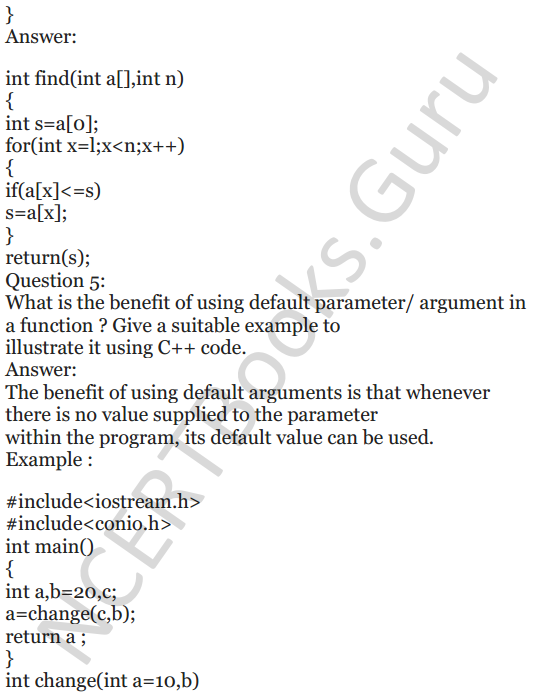NCERT Solutions for Class 12 Computer Science (C++) Chapter - 1 – C++ Revision Tour 43