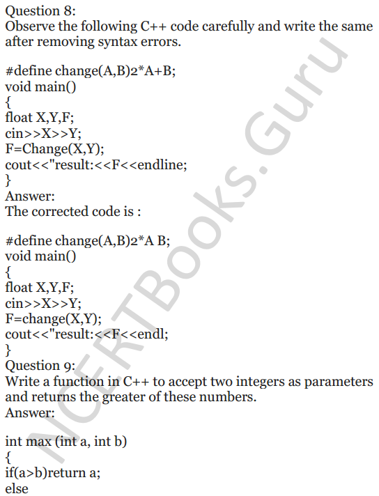 NCERT Solutions for Class 12 Computer Science (C++) Chapter - 1 – C++ Revision Tour 45