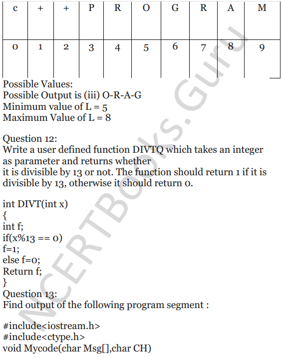 NCERT Solutions for Class 12 Computer Science (C++) Chapter - 1 – C++ Revision Tour 47