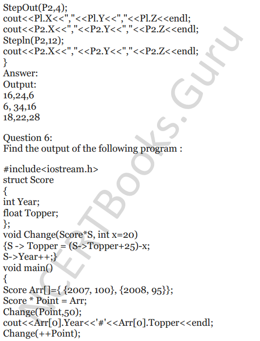 NCERT Solutions for Class 12 Computer Science (C++) Chapter - 1 – C++ Revision Tour 62