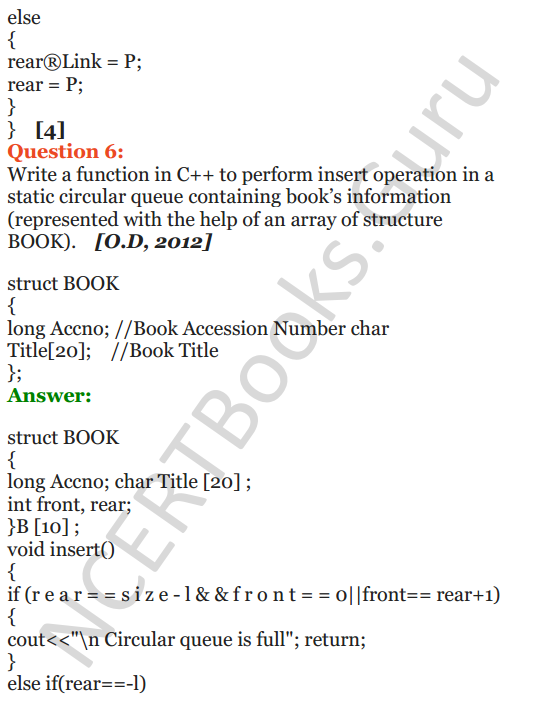 PDF] NCERT Solutions for Class 12 Computer Science (C++) Chapter 10
