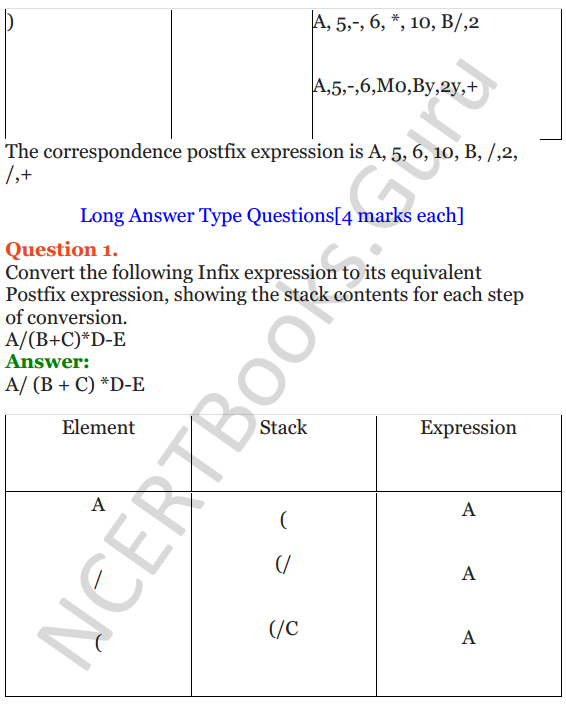 NCERT Solutions for Class 12 Computer Science (C++) Chapter - 9 – Stack 22
