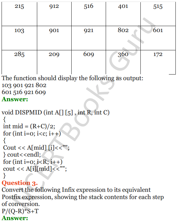 NCERT Solutions for Class 12 Computer Science (C++) Chapter - 9 – Stack 24