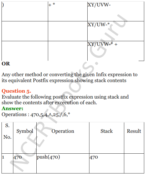NCERT Solutions for Class 12 Computer Science (C++) Chapter - 9 – Stack 30