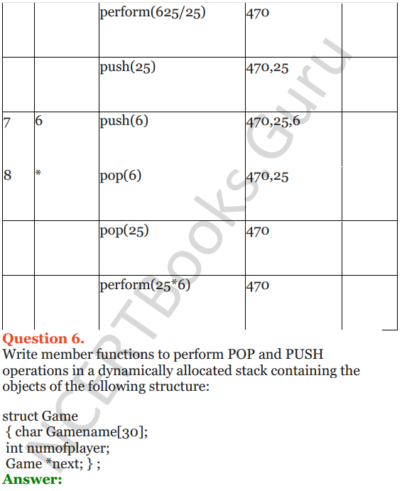 NCERT Solutions for Class 12 Computer Science (C++) Chapter - 9 – Stack 32