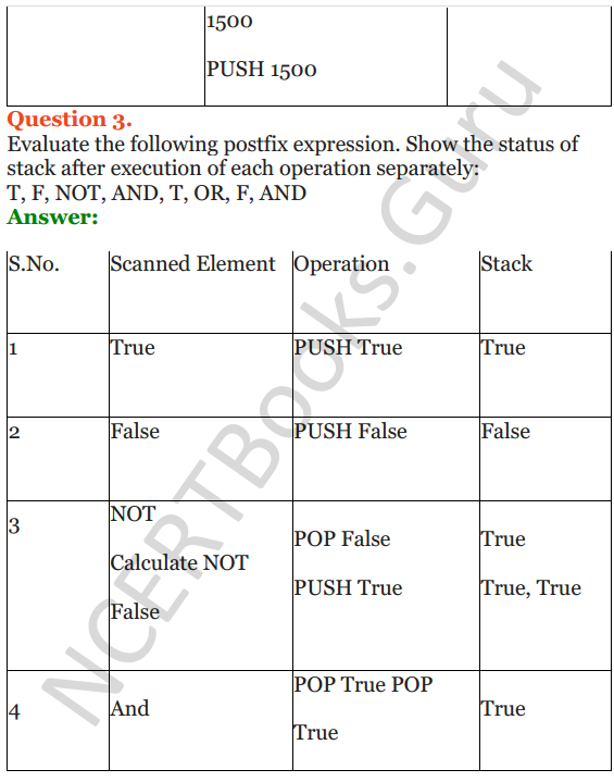 NCERT Solutions for Class 12 Computer Science (C++) Chapter - 9 – Stack 5