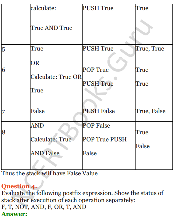 NCERT Solutions for Class 12 Computer Science (C++) Chapter - 9 – Stack 6